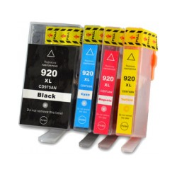 Pack4 Cartridge Compatible HP 920XL Black/Photo/Blue/Magenta/Yellow (C2N92AE)