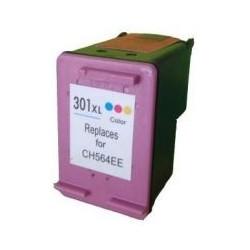 Cartucho de Tinta Compatible HP 301XL Tricolor (CH564EE)