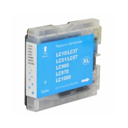 Ink Cartridge Compatible Brother LC1000/LC970 XXL Blue