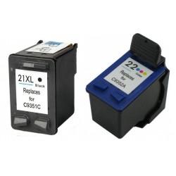 Cartucho de Tinta Compatible HP 22XL / 21XL Combo