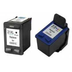 Ink Cartridge Compatible HP 22XL / 21XL Pack