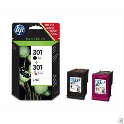 HP 301 Black and Tri-color Original Ink Cartridges