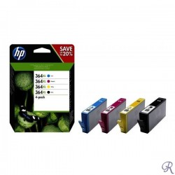 HP 364XL 4-pack High Yield Black/Cyan/Magenta/Yellow Original Ink Cartridges