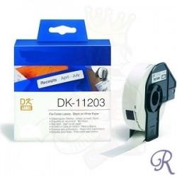 Rouleau d'étiquettes d'adresse DK-11209 Brother Compatible – Noir sur blanc 29 x 62 mm